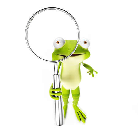 3d rendered toon character - green frog Stock Photo - 22584060