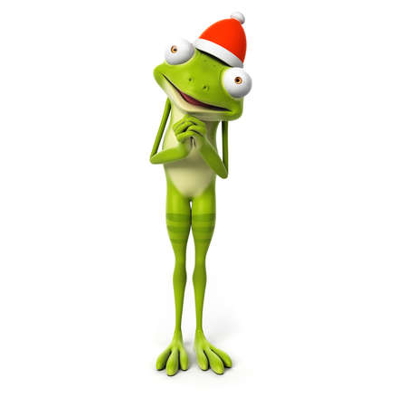 3d rendered toon character - green frog Stock Photo - 22584090