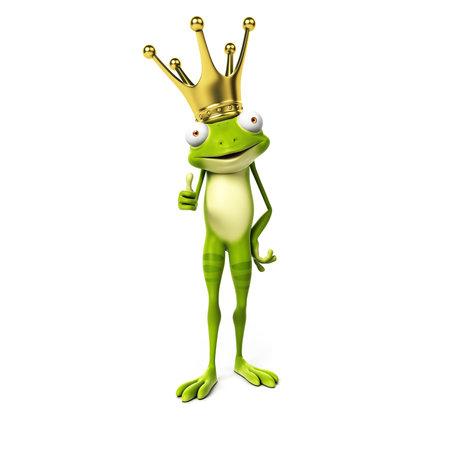 3 d レンダリングされた漫画文字 - 緑のカエル