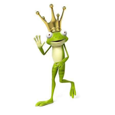 3d rendered toon character - green frog Stock Photo - 22584096
