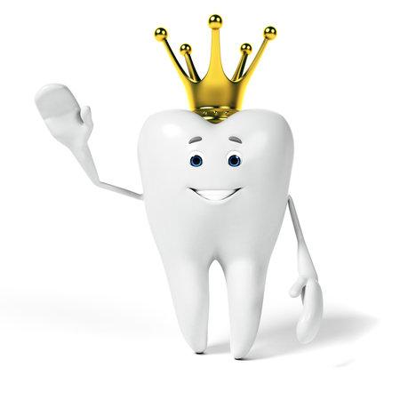 3d teruggegeven karakter van Toon - funny tooth Stockfoto