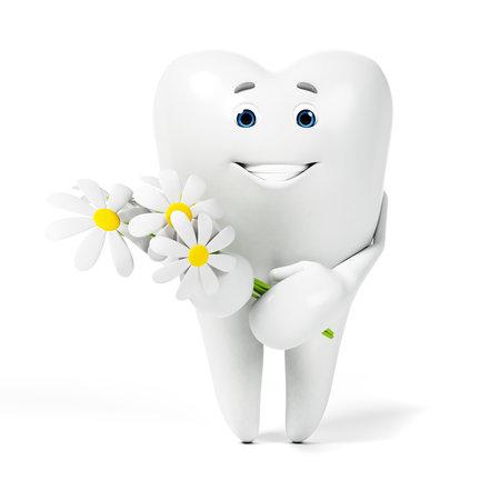 3D 렌더링 된 툰 캐릭터 - 재미있는 치아