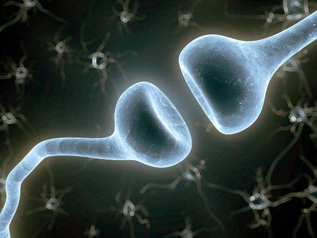 3d rendered illustration of a nerve receptor