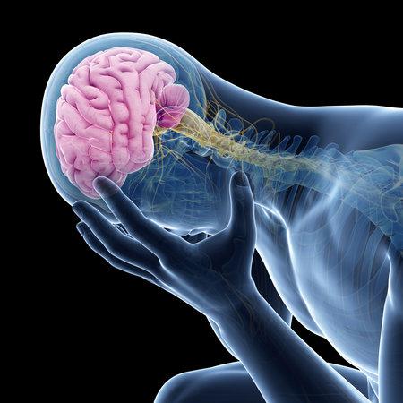 우울증 일러스트 - 보이는 해부학 스톡 콘텐츠