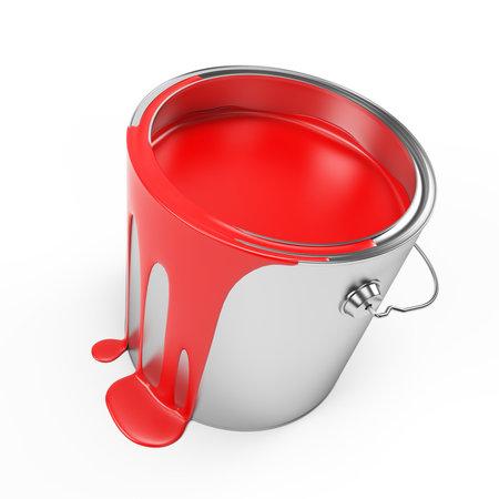 3d rendered illustration of a paint bucket Stock fotó