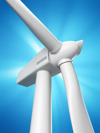 3d rendered illustration of a wind mill