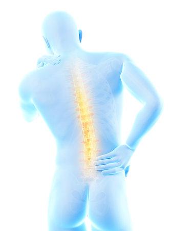 Un homme ayant la douleur aiguë dans le dos Banque d'images - 26849914