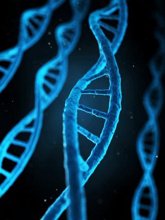 medische illustratie van de menselijke genen