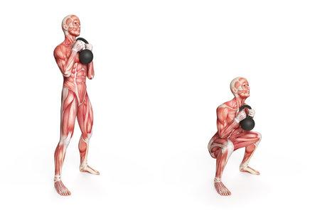 의 kettlebell 운동 - frontsquat