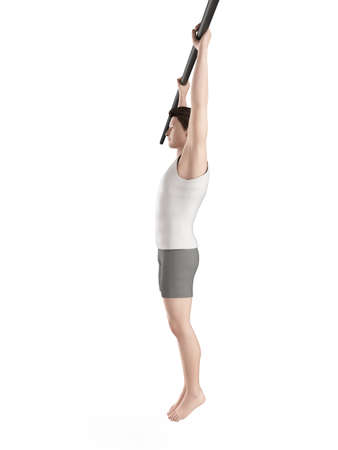 exercise illustration - hanging leg raises