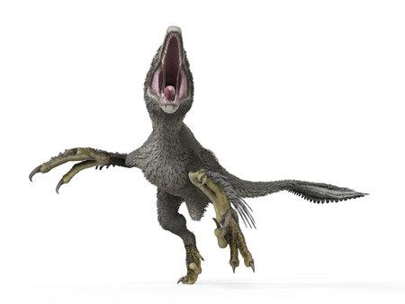 3d rendered illustration of a dakotaraptor