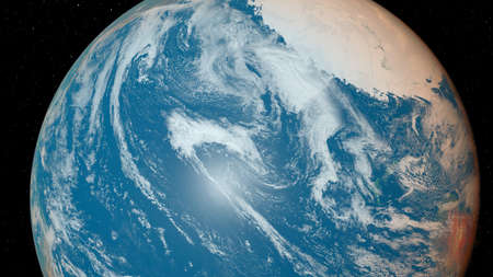 3d rendered illustration of the earth from space
