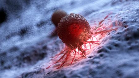 3d gerenderte Illustration einer menschlichen Krebszelle