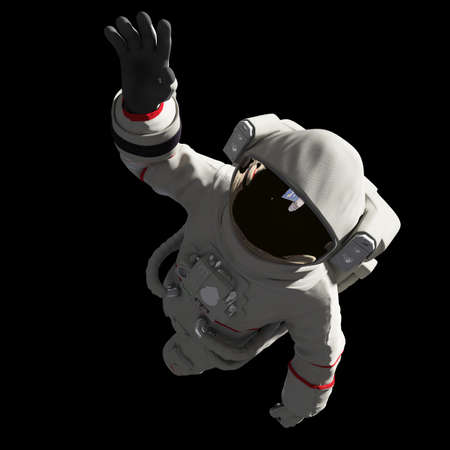 3d rendered illustration of an astronaut in space Stock Photo