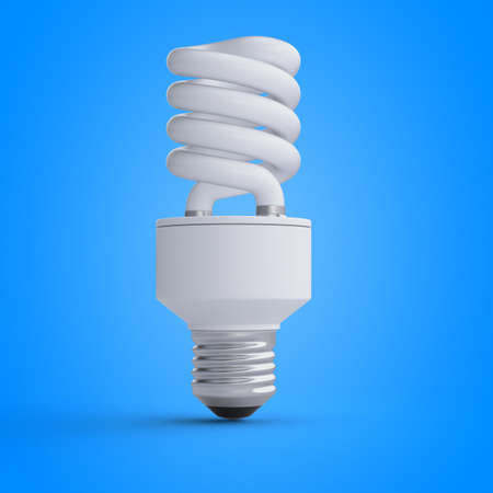 3d rendered illustration of a light bulb