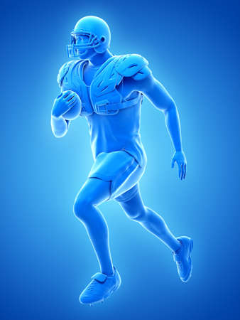 3d rendered medically accurate illustration of an american football player Banco de Imagens