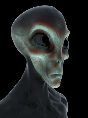3d rendered illustration of an alien
