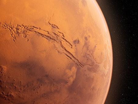 3d rendered illustration of the mars  - valles marineris 写真素材
