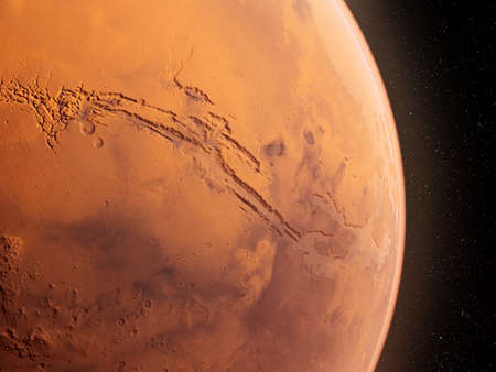 3d rendered illustration of the mars  - valles marineris Stock Photo