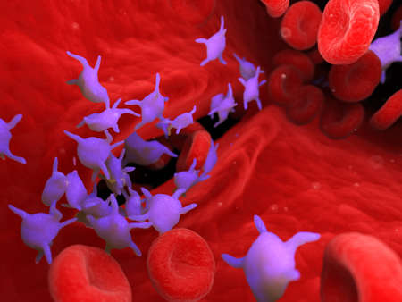 3d rendered medically accurate illustration of active blood platelets
