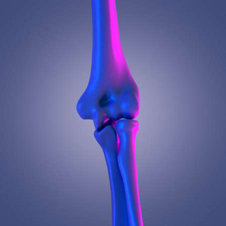 3d rendered abstract rendering of the elbow joint Stock Photo