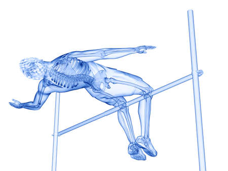 3d rendered medically accurate illustration of a high jumper