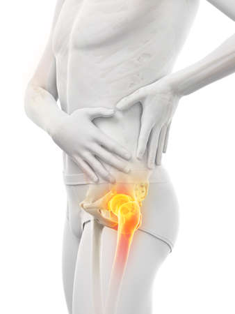 3d rendered medically accurate illustration of a man having a painful shoulder joint Banque d'images - 121702957