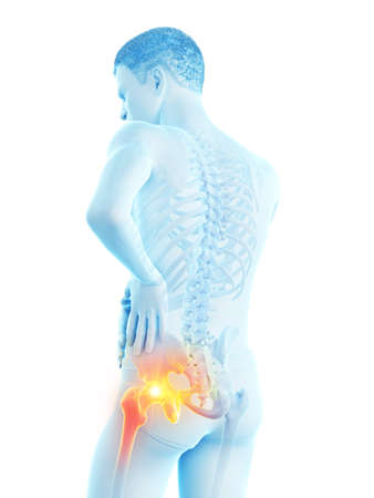 3d rendered medically accurate illustration of a man having a painful shoulder joint Banque d'images - 121703608