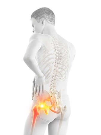 3d rendered medically accurate illustration of a man having a painful shoulder joint Banque d'images - 121704642