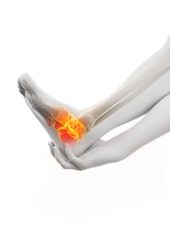 3d rendered medically accurate illustration of a painful ankle Фото со стока