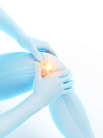 3d rendered medically accurate illustration of a man having a painful knee Standard-Bild - 122253537