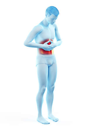 3d rendered medically accurate illustration of a painful belly