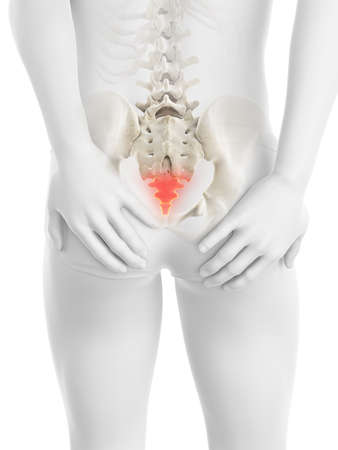 3d rendered medically accurate illustration of a painful tailbone