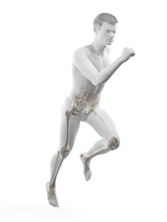 3d rendered medically accurate illustration of a runners painful joints Stockfoto
