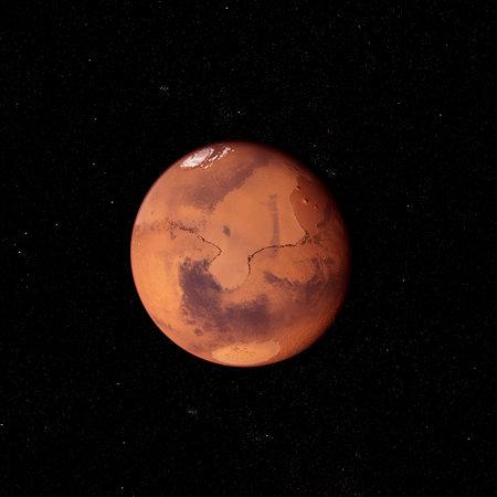 3d rendered illustration of the mars