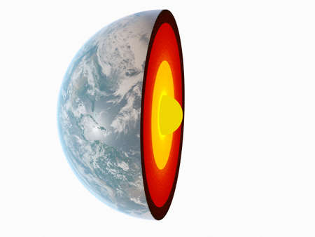 3d rendered illustration of a section of the earth Standard-Bild - 125138164