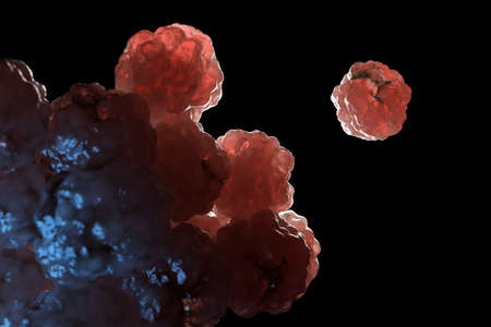3d rendered illustration of some spreading cancer cells