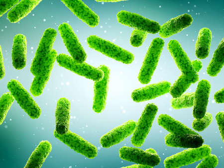 3d rendered illustration of some generic rod shaped bacteria Stock fotó