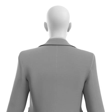 3d rendered illustration of a guy in a business suit isolated on white