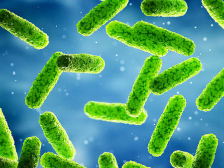 3d rendered illustration of some generic rod shaped bacteria Stok Fotoğraf