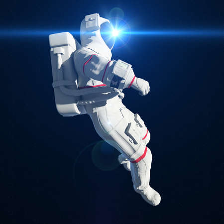 3d rendered illustration of an astronaut in space Фото со стока
