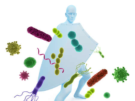 3d rendered conceptual immune defense illustration Standard-Bild