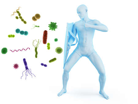 3d rendered conceptual immune defense illustration Stock fotó