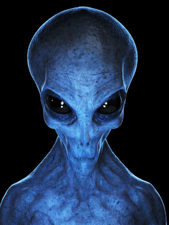 3d rendered medically accurate illustration of a grey alien