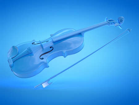 3d rendered illustration of a blue violine Stockfoto