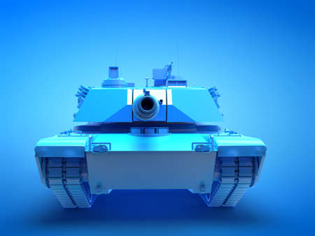 3d rendered illustration of a blue tank