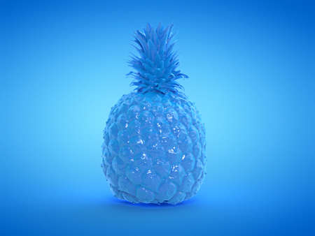 3d rendered illustration of a blue pineapple Stockfoto