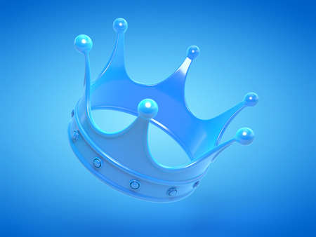 3d rendered illustration of a blue crown