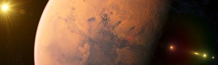 3d rendered illustration of the mars 版權商用圖片