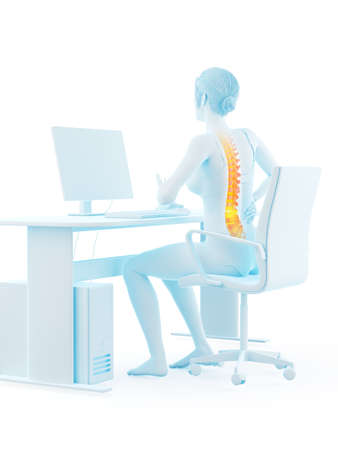 3d rendered medically accurate illustration of a woman having backache